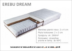 materac kokos visco erebu dream